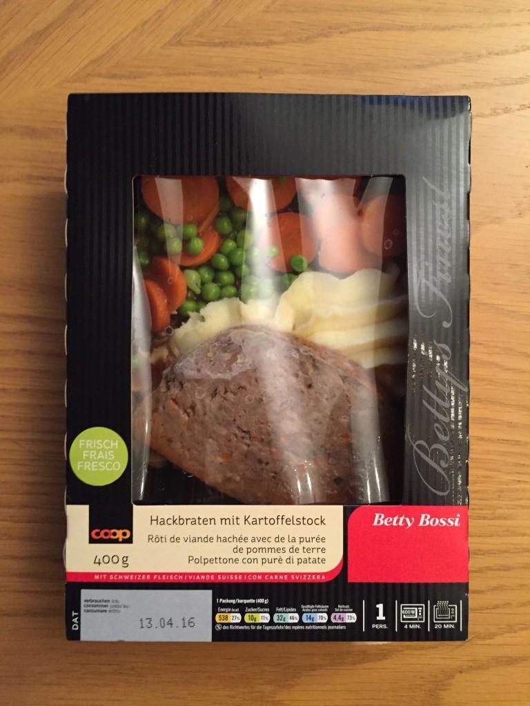 Hackbraten mit Kartoffelstock - verpackt