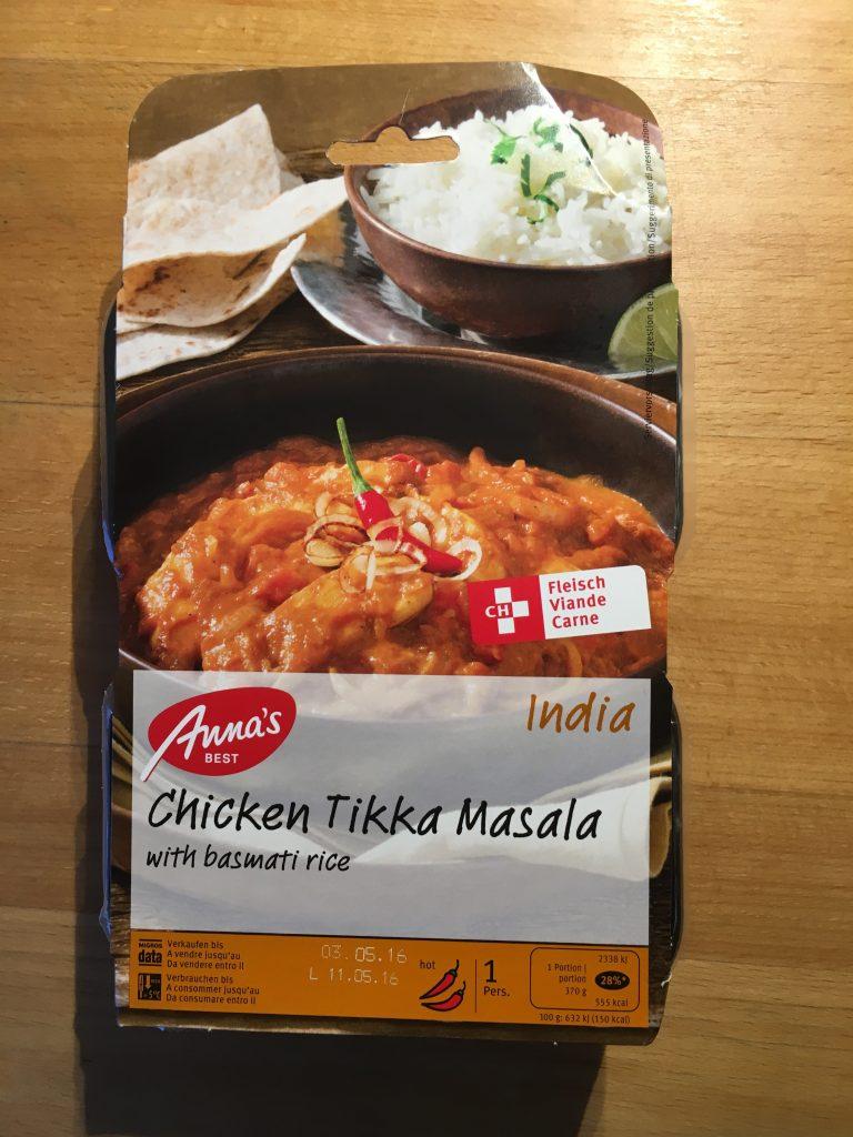 India Chicken Tikka Masala-verpackt