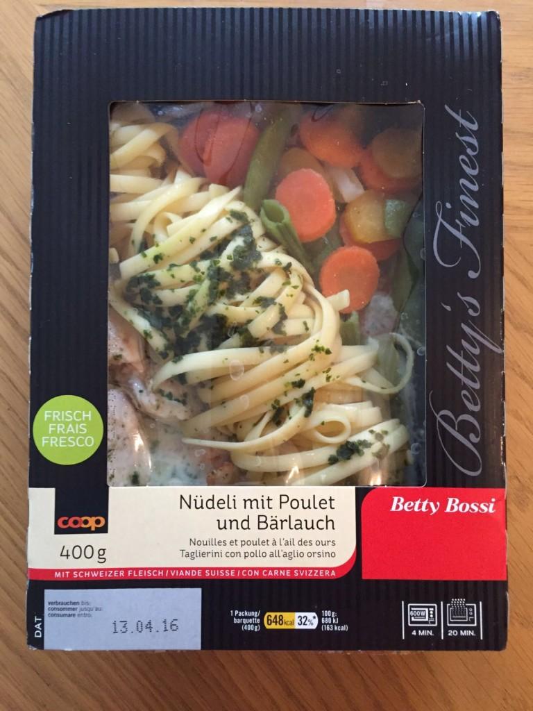Nüdeli mit Poulet und Bärlauch - verpackt