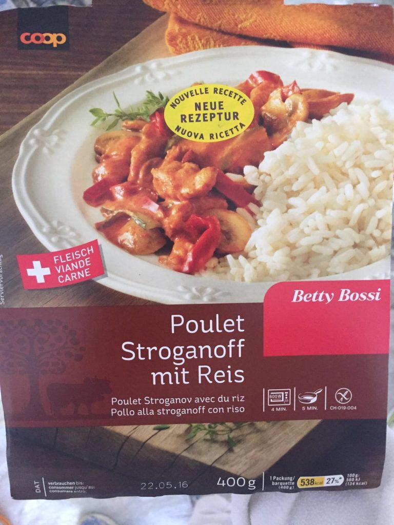 Poulet Stroganoff mit Reis - verpackt