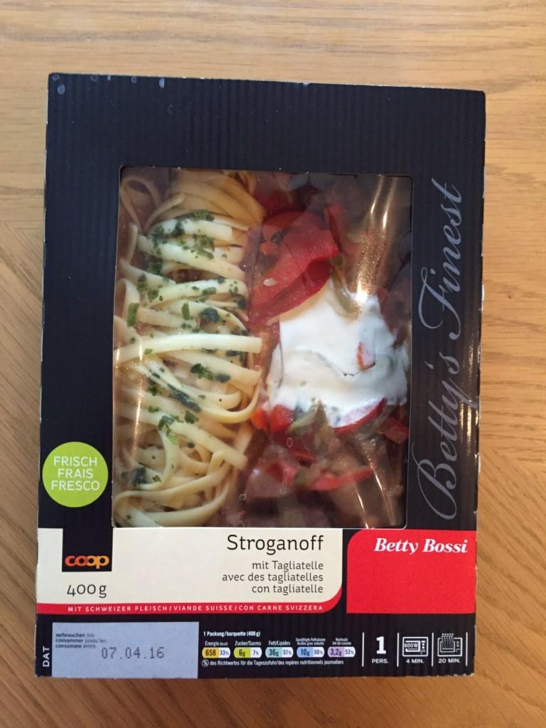 Stroganoff mit Tagliatelle - verpackt