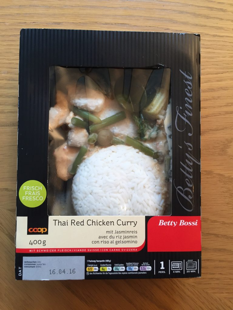 Thai Red Chicken Curry - verpackt