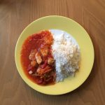 Asian Chicken Sweet Sour mit Basmatireis - angerichtet