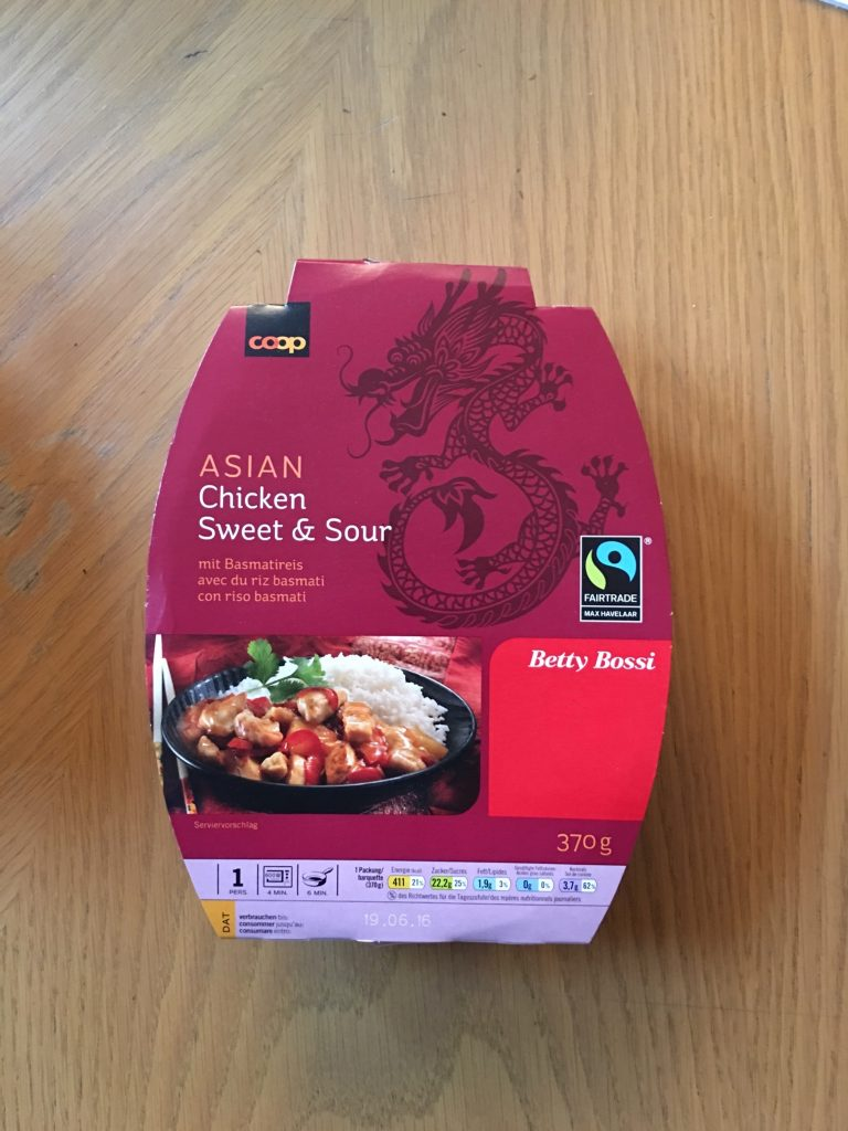 Asian Chicken Sweet Sour mit Basmatireis - verpackt