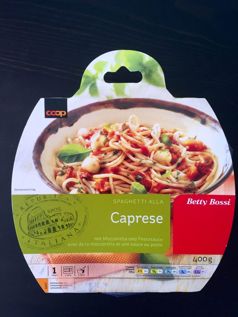 Spaghetti Caprese - verpackt