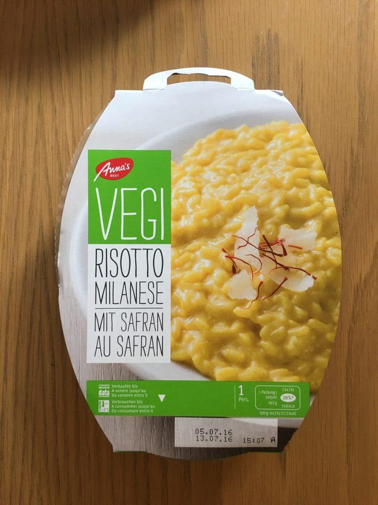 Vegi Risotto Milanese mit Safran - verpackt