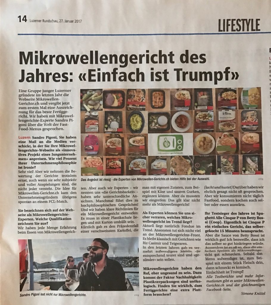 Mikrowellen-Gerichte.ch - Luzerner Rundschau